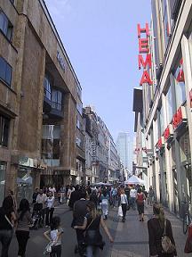 shopping street Rue Neuve Brussels